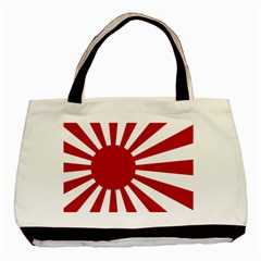 Ensign Of The Imperial Japanese Navy And The Japan Maritime Self Defense Force Basic Tote Bag (Two Sides)