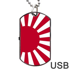 Ensign Of The Imperial Japanese Navy And The Japan Maritime Self Defense Force Dog Tag Usb Flash (two Sides)