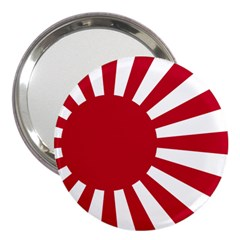 Ensign Of The Imperial Japanese Navy And The Japan Maritime Self Defense Force 3  Handbag Mirrors