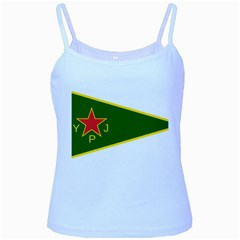 Flag Of The Women s Protection Units Baby Blue Spaghetti Tank