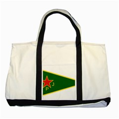 Flag Of The Women s Protection Units Two Tone Tote Bag