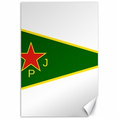 Flag Of The Women s Protection Units Canvas 24  x 36