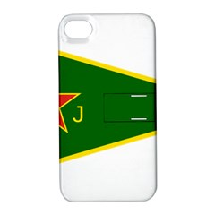 Flag Of The Women s Protection Units Apple iPhone 4/4S Hardshell Case with Stand