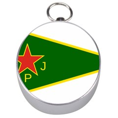 Flag Of The Women s Protection Units Silver Compasses