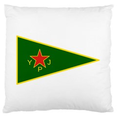 Flag Of The Women s Protection Units Standard Flano Cushion Case (One Side)