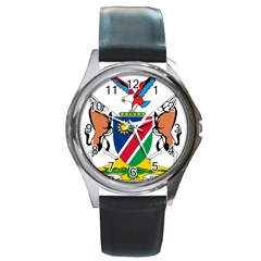 Coat Of Arms Of Namibia Round Metal Watch