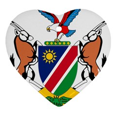 Coat Of Arms Of Namibia Heart Ornament (2 Sides)