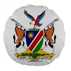 Coat Of Arms Of Namibia Large 18  Premium Round Cushions