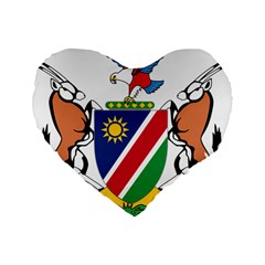 Coat Of Arms Of Namibia Standard 16  Premium Heart Shape Cushions
