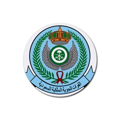Emblem Of The Royal Saudi Air Force  Rubber Coaster (Round)