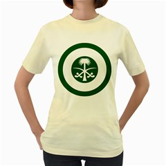 Roundel Of The Royal Saudi Air Force Women s Yellow T-Shirt