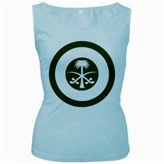 Roundel Of The Royal Saudi Air Force Women s Baby Blue Tank Top