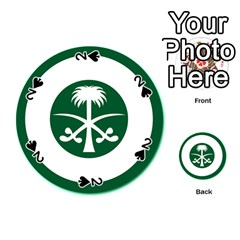 Roundel Of The Royal Saudi Air Force Playing Cards 54 (Round)