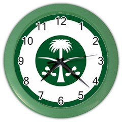 Roundel Of The Royal Saudi Air Force Color Wall Clocks