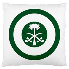 Roundel Of The Royal Saudi Air Force Large Cushion Case (one Side)