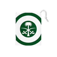 Roundel Of The Royal Saudi Air Force Drawstring Pouches (Small)