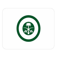 Roundel Of The Royal Saudi Air Force Double Sided Flano Blanket (Large)
