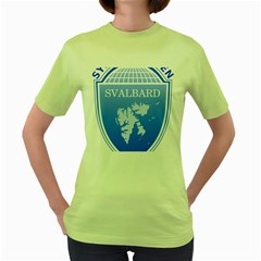 Coat Of Arms Of Svalbard Women s Green T-Shirt