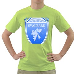 Coat Of Arms Of Svalbard Green T Shirt