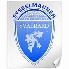 Coat Of Arms Of Svalbard Canvas 16  x 20