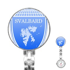Coat Of Arms Of Svalbard Stainless Steel Nurses Watch