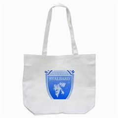 Coat Of Arms Of Svalbard Tote Bag (white)