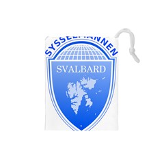 Coat Of Arms Of Svalbard Drawstring Pouches (Small)
