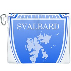 Coat Of Arms Of Svalbard Canvas Cosmetic Bag (XXXL)