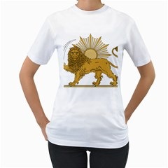 National Emblem Of Iran, Provisional Government Of Iran, 1979 1980 Women s T-Shirt (White) (Two Sided)
