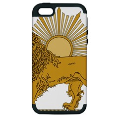 National Emblem Of Iran, Provisional Government Of Iran, 1979 1980 Apple iPhone 5 Hardshell Case (PC+Silicone)