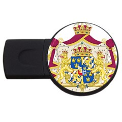 Greater Coat Of Arms Of Sweden  USB Flash Drive Round (2 GB)