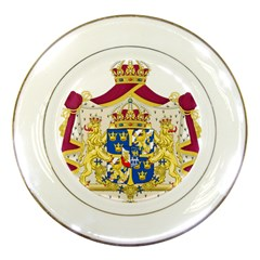 Greater Coat Of Arms Of Sweden  Porcelain Plates