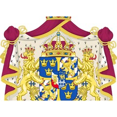 Greater Coat Of Arms Of Sweden  Birthday Cake 3D Greeting Card (7x5)