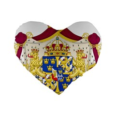 Greater Coat Of Arms Of Sweden  Standard 16  Premium Heart Shape Cushions