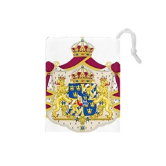 Greater Coat Of Arms Of Sweden  Drawstring Pouches (Small)