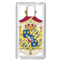 Greater Coat Of Arms Of Sweden  Samsung Galaxy Note 4 Case (White)