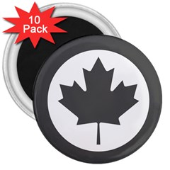 Low Visibility Roundel Of The Royal Canadian Air Force 3  Magnets (10 pack)