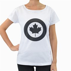 Low Visibility Roundel Of The Royal Canadian Air Force Women s Loose-Fit T-Shirt (White)