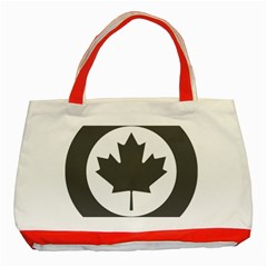 Low Visibility Roundel Of The Royal Canadian Air Force Classic Tote Bag (Red)