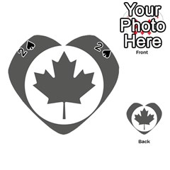 Low Visibility Roundel Of The Royal Canadian Air Force Playing Cards 54 (Heart)