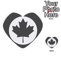Low Visibility Roundel Of The Royal Canadian Air Force Multi-purpose Cards (Heart)