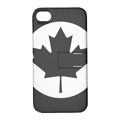 Low Visibility Roundel Of The Royal Canadian Air Force Apple iPhone 4/4S Hardshell Case with Stand
