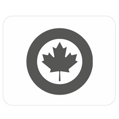 Low Visibility Roundel Of The Royal Canadian Air Force Double Sided Flano Blanket (Medium)