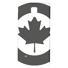 Low Visibility Roundel Of The Royal Canadian Air Force Galaxy Note 4 Back Case