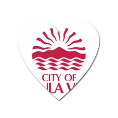 Seal Of Chula Vista Heart Magnet