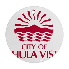 Seal Of Chula Vista Round Ornament (Two Sides)