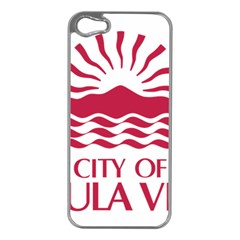 Seal Of Chula Vista Apple Iphone 5 Case (silver)