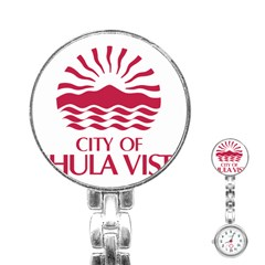 Seal Of Chula Vista Stainless Steel Nurses Watch