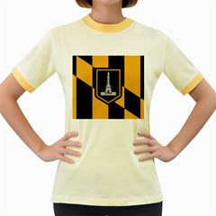 Flag Of Baltimore Women s Fitted Ringer T-Shirts