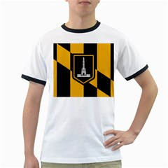 Flag Of Baltimore Ringer T Shirts